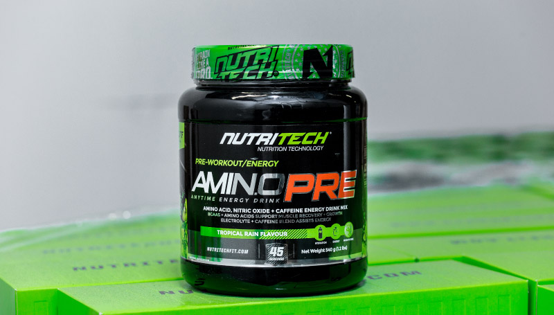 A close up shot of amino pre
